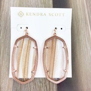 Kendra Scott Danielle gold dusted earrings